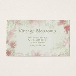 Cartão De Visitas Flores do vintage