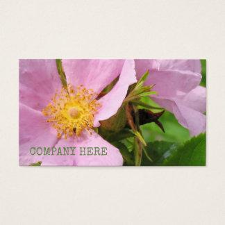 Cartão De Visitas Flores florais cor-de-rosa da flor da planta das