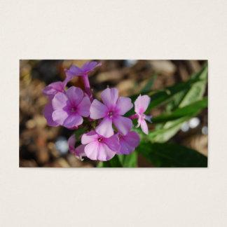 Cartão De Visitas Flores roxas minúsculas - negócio