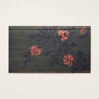 Cartão De Visitas Flores rústicas do vintage