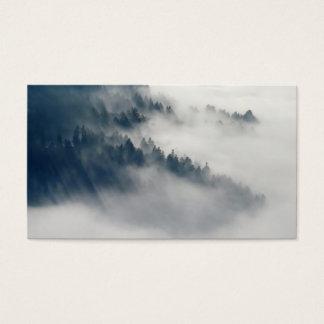 Cartão De Visitas Floresta nevoenta