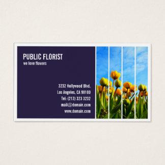 Cartão De Visitas Florista telhado do florista da fotografia