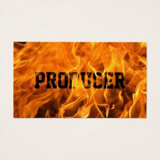Cartão De Visitas Fogo ardente do texto corajoso do produtor