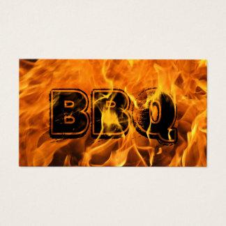 Cartão De Visitas Fogo ardente quente de abastecimento do CHURRASCO