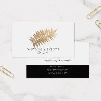 Cartão De Visitas ★. Folha de ouro elegante