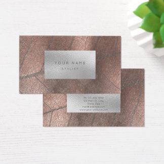 Cartão De Visitas Folha de prata do branco cinzento do metal de
