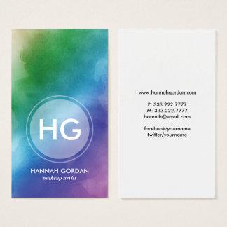 Cartão De Visitas Folha de prova elegante moderna da beleza do