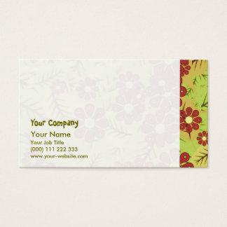Cartão De Visitas Folha e flores