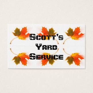 Cartão De Visitas Folhas de outono