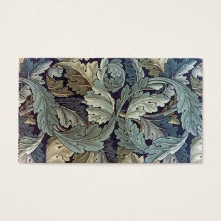 Cartão De Visitas Folhas do Acanthus de matéria têxtil de William