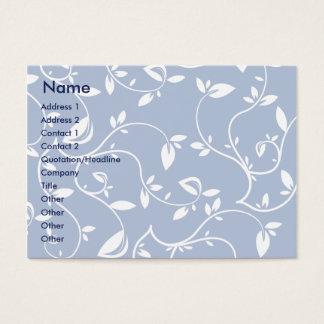 Cartão De Visitas Folhas do azul - carnudos