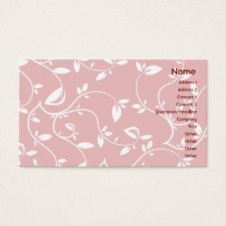 Cartão De Visitas Folhas do rosa - negócio