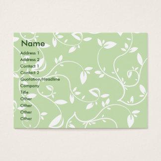 Cartão De Visitas Folhas do verde - carnudos