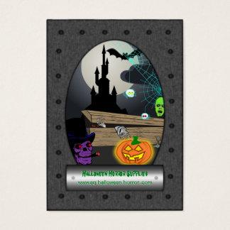 Cartão De Visitas Fontes do horror do Dia das Bruxas - engrenagem