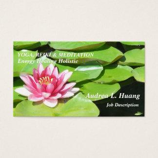 Cartão De Visitas Força sereno/lagoa cor-de-rosa Lotus