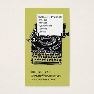 Cartão De Visitas Formando Verde-Preto do escritor da máquina de