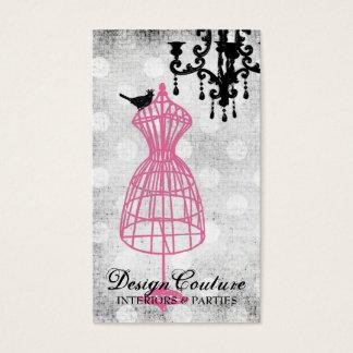 Cartão De Visitas Formulário fabulosa francês do vestido do fio 311
