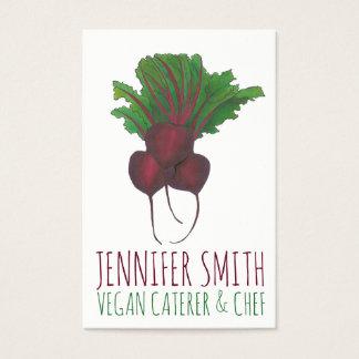 Cartão De Visitas Fornecedor do cozinheiro chefe do Vegan do