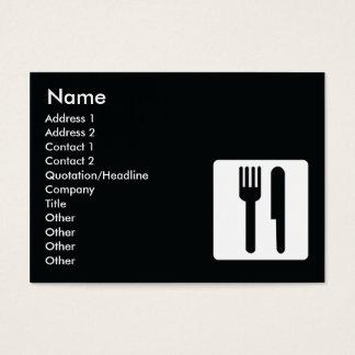 Cartão De Visitas Forquilha e faca - carnudos