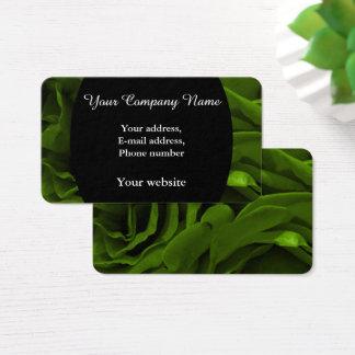 Cartão De Visitas Foto aveludado da flor dos rosas da verde azeitona