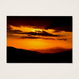 Cartão De Visitas Foto bonita do por do sol