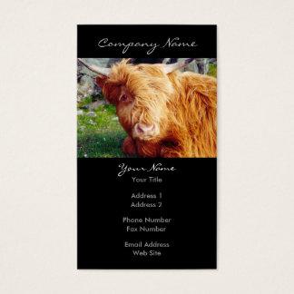 Cartão De Visitas Foto da vaca das montanhas