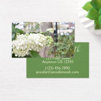 Cartão De Visitas Foto floral da arquitetura de New York das flores