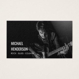 Cartão De Visitas Foto moderna do músico profissional