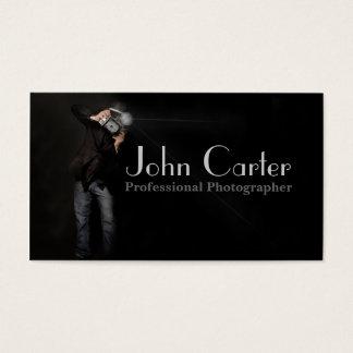 Cartão De Visitas Foto profissional da arte da câmera do fotógrafo