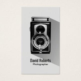 Cartão De Visitas Fotografia da câmera do fotógrafo do vintage