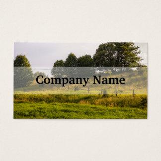 Cartão De Visitas Fotografia da paisagem do prado do por do sol