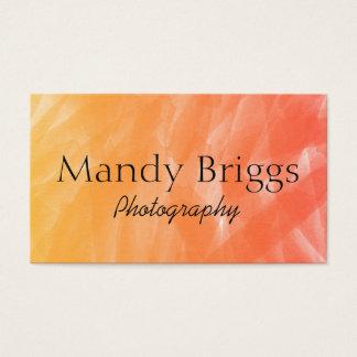 Cartão De Visitas Fotografia da pintura da aguarela do vermelho