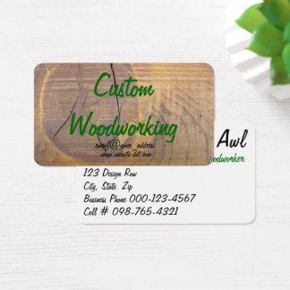 Cartão De Visitas Fotografia de madeira do nó do cedro