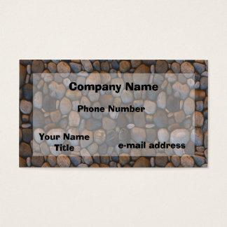 Cartão De Visitas Fotografia dos seixos