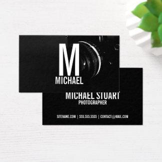Cartão De Visitas Fotografia preto e branco profissional