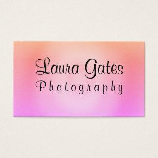 Cartão De Visitas Fotografia roxa alaranjada cor-de-rosa da aguarela