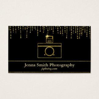 Cartão De Visitas Fotógrafo da câmera da faísca do ouro