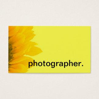 Cartão De Visitas Fotógrafo floral macro amarelo da foto | do