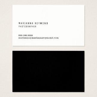 Cartão De Visitas fotógrafo moderno do contato mínimo da introdução