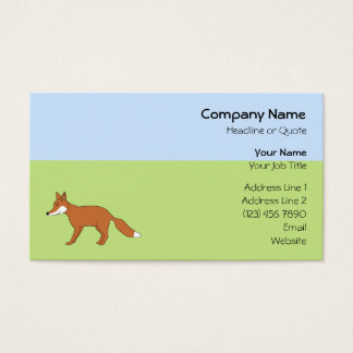 Cartão De Visitas Fox. vermelho