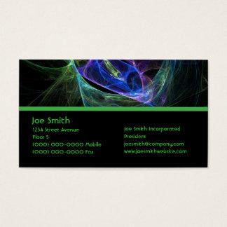 Cartão De Visitas Fractal da energia