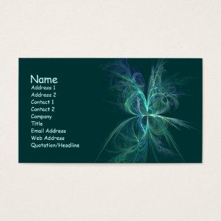 Cartão De Visitas Fractal da energia psíquico