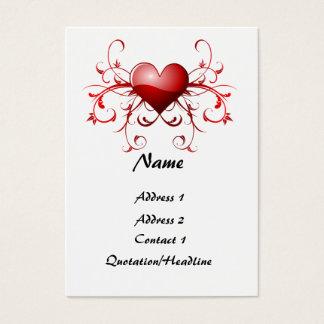 Cartão De Visitas Fractal do coração - personalizado