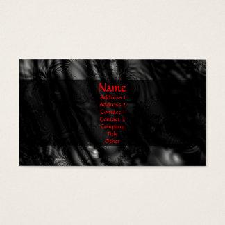 Cartão De Visitas Fractal preto do laço