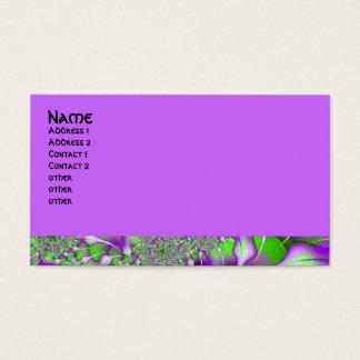 Cartão De Visitas fractal verde roxo