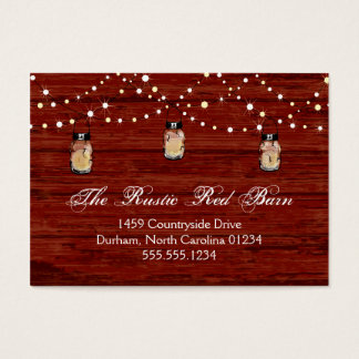 Cartão De Visitas Frasco e luzes rústicos de pedreiro