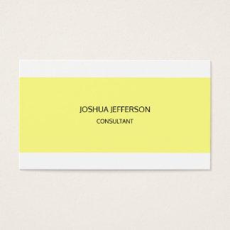 Cartão De Visitas Frente e verso minimalista liso moderno
