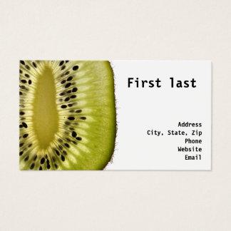Cartão De Visitas Fruta de quivi