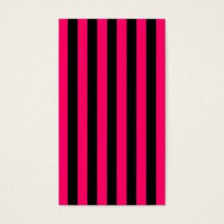 Cartão De Visitas Fundo cor-de-rosa e preto da listra