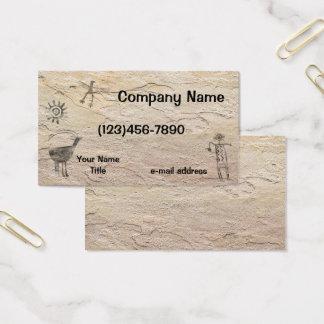 Cartão De Visitas Fundo de pedra dos Petroglyphs antigos